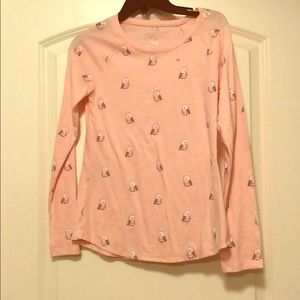 Pink girls shirt with owl print